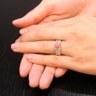 コンクパール0.8ct ダイヤモンド0.9ct プラチナ リング(指輪)【品質保証書/宝石鑑別書付】【動画あり】