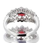 コンクパール0.6ct ダイヤモンド0.87ct プラチナ リング(指輪)【品質保証書/宝石鑑別書付】【動画あり】