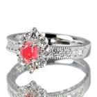 コンクパール0.5ct ダイヤモンド0.5ct プラチナ リング(指輪)【鑑別書付】【動画あり】