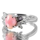 コンクパール2ct ダイヤモンド0.3ct プラチナ リング(指輪)【品質保証書/宝石鑑別書付】【動画あり】