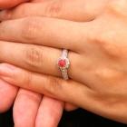 コンクパール0.48ct ダイヤモンド0.4ct プラチナ リング(指輪)【品質保証書/宝石鑑別書付】【動画あり】