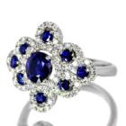 VIVID BLUEサファイア1.1ct ダイヤモンド プラチナ リング(指輪)