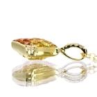 イエロー・オレンジサファイア0.7ct ダイヤモンド ミステリーイエローゴールド ネックレス【品質保証書/鑑別書付】【オーダージュエリー】