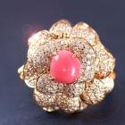 コンクパール2.8ct ダイヤモンド1.8ct ピンクゴールド リング(指輪)【品質保証書/鑑別書付】【動画あり】