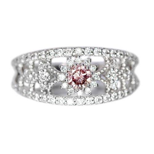 ピンクダイヤモンド0.22ct/FP ダイヤモンド0.3ct プラチナ リング(指輪)