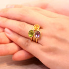 アメシスト ベゼルセッティング K18イエローゴールド リング(指輪)