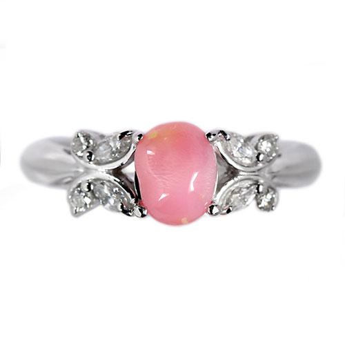 コンクパール1ct ダイヤモンド ホワイトゴールド リング(指輪)