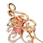 コンクパール1ct ダイヤモンド0.5ct ピンクゴールド ネックレス