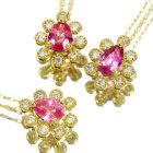 ピンクサファイア ダイヤモンド ピンクゴールド ネックレス