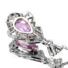 ピンクインペリアルトパーズ1.5ct ダイヤモンド プラチナ ネックレス