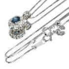 アレキサンドライト0.3ct ダイヤモンド0.4ct ホワイトゴールド ネックレス