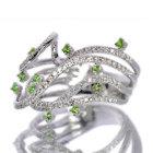ロシア産デマントイドガーネット0.3ct ダイヤモンド0.6ct ホワイトゴールド リング(指輪)