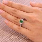 翡翠1ct ダイヤモンド0.5ct プラチナ リング(指輪)