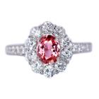 パパラチャサファイア 0.7ct ダイヤモンド プラチナ リング(指輪)