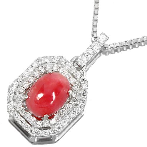 コンクパール 約1.2ct ダイヤモンドプラチナネックレス