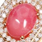 コンクパール1.1ct ダイヤモンド ピンクゴールド ネックレス