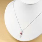 ネオンピンクスピネル 0.8ct 非加熱/無処理 ダイヤモンド プラチナ ネックレス