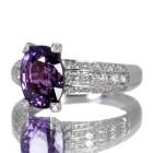 非加熱パープルサファイア3.5ct ダイヤモンド プラチナ リング(指輪)