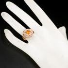 オレンジダイヤモンド 1.0ct FDYO ダイヤモンド ピンクゴールド リング(指輪)