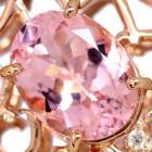 マダガスカル産モルガナイト1.6ct ルビー/ダイヤモンド ピンクゴールド ネックレス