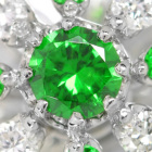 ロシア産デマントイドガーネット ダイヤモンド プラチナ ネックレス