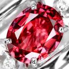 レッドスピネル1.3ct (天然無処理)ダイヤモンド ホワイトゴールド リング(指輪)