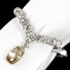 シャンパンダイヤモンド0.9ct/0.95ct ホワイトゴールド リング(指輪)