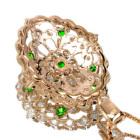 ロシア産デマントイドガーネット ダイヤモンド ピンクゴールドネックレス