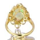 オーストラリア産オパール2.6ct ダイヤモンド イエローゴールド リング(指輪)