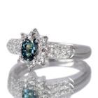 ブラジル産アレキサンドライト 0.4ct ダイヤモンド プラチナ リング(指輪)