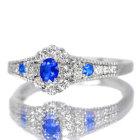 アウイナイト0.1ct ダイヤモンド プラチナ リング(指輪)