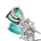 ネオンブルーアパタイト1.68ct ダイヤモンド プラチナ ネックレス