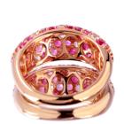 ルビー&マルチカラーサファイア トータル 2.45ct イチゴパヴェ ピンクゴールド リング(指輪)