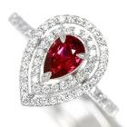 非加熱ルビー0.8ct ダイヤモンド0.5 プラチナ リング(指輪)