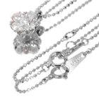 ダイヤモンド / ピンクダイヤモンド トータル0.6ct プラチナ 桜ネックレス