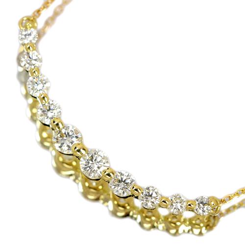 ダイヤモンド0.5ct イエローゴールド ネックレス