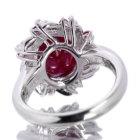 ルビー 5.8ct ダイヤモンド プラチナ リング(指輪)