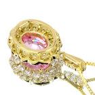 パパラチャサファイア1.1ct ダイヤモンド イエローゴールド ネックレス