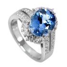 ブラジル産サンタマリアアクアマリン3.3ctダイヤモンド プラチナ リング(指輪)