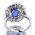 スターサファイア3.4ct ダイヤモンド1.5ct プラチナ&イエローゴールド リング(指輪)