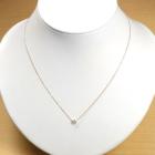 ダイヤモンド 0.2ct イエロー・ホワイト・ピンクゴールド ベゼルセッティング 一粒 ネックレス