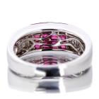 ルビー1.6ct ダイヤモンド0.7ct ミステリーセッティング ホワイトゴールド リング(指輪)【品質保証書/宝石鑑別書付】