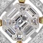 ダイヤモンド1.25ct イエローダイヤモンド ミステリーセッティング イエローゴールド/ホワイトゴールド リング(指輪)【品質保証書/宝石鑑別書付】