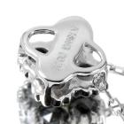 ブラックダイヤモンド ダイヤモンド ローズカット ホワイトゴールド ネックレス【品質保証書付】【オーダージュエリー】