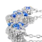 アウイナイト0.2ct ダイヤモンド0.3ct フラワーデザイン プラチナ ネックレス【品質保証書/宝石鑑別書付】【オーダージュエリー】