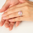 コンクパール2ct ダイヤモンド0.65ct プラチナ リング(指輪)【品質保証書/宝石鑑別書付】