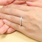 ハートアンドキューピッドダイヤモンド0.5ct ハーフエタニティ プラチナ リング(指輪)【品質保証書/宝石鑑別書付】【オーダージュエリー】
