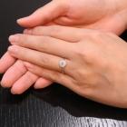 ブラジル産パライバトルマリン ダイヤモンド プラチナ リング(指輪)【品質保証書/鑑別書付】【オーダージュエリー】