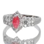 コンクパール0.4ct ダイヤモンド0.4ct レールセッティング プラチナ リング(指輪)【品質保証書/宝石鑑別書付】