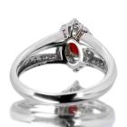 コンクパール0.6ct ダイヤモンド0.5ct プラチナ リング(指輪)【品質保証書/宝石鑑別書付】【動画あり】